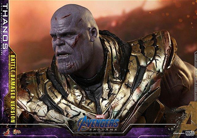 Thanos Vingadores Ultimato versão Battle Damage Marvel Movie Masterpieces Hot Toys Original