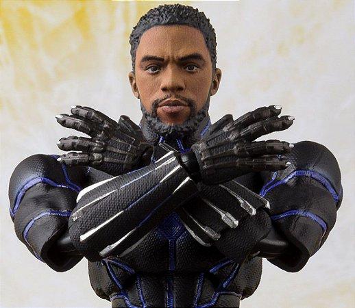Pantera Negra T'Challa Rei de Wakanda Vingadores Guerra Infinita S.H. Figuarts Bandai Original