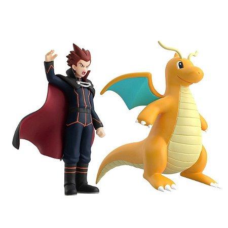 Lance e Dragonite Pokemon Scale World Bandai Original
