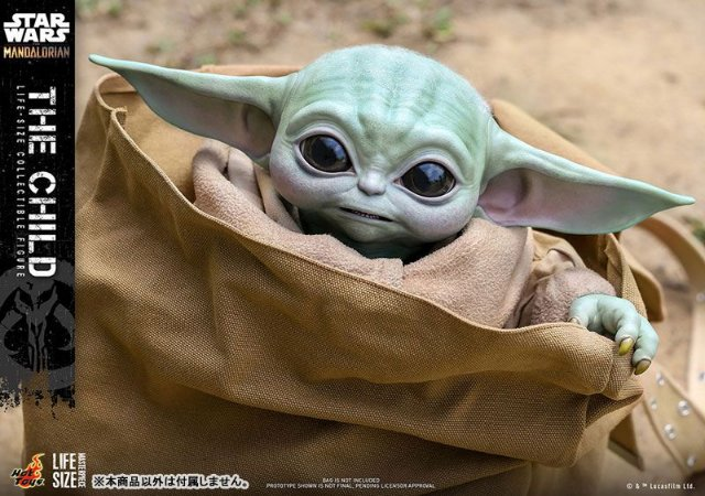 Baby Yoda Star Wars O mandaloriano Life-size Masterpiece Hot Toys Original