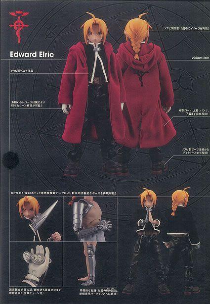 Edward Elric Fullmetal Alchemist Real Action Heroes RAH No.220-43 DX Medicom Toy Original