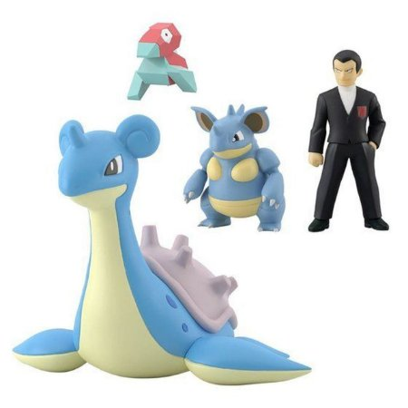 Giovanni e set pokemons Pokemon Scale World Bandai Original