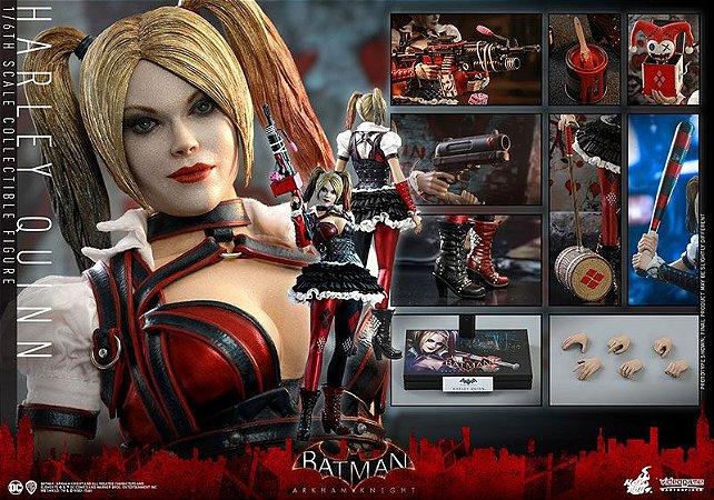 Arlequina Batman o Cavaleiro de Arkham Video Game Masterpiece Hot Toys Original