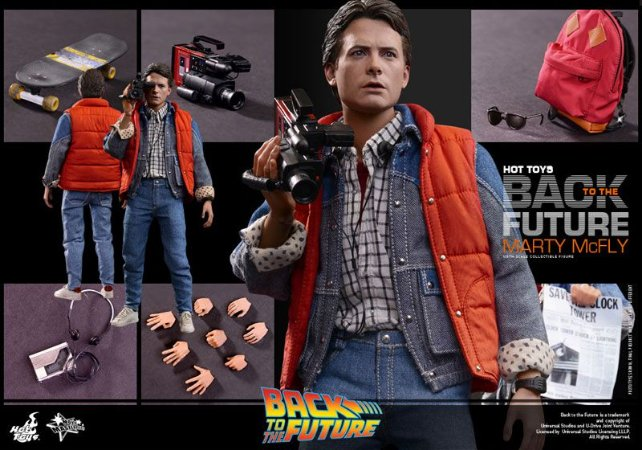 Marty McFly De volta para o futuro Movie Masterpiece Hot Toys Original