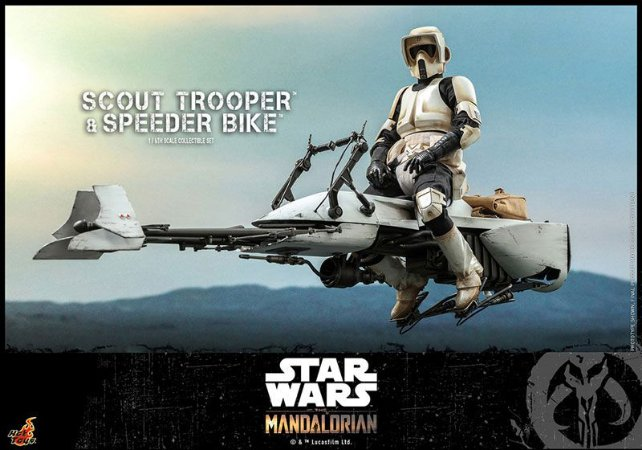 Scout Trooper & Baby Yoda Star Wars The Mandalorian Movie Masterpiece Hot Toys Original