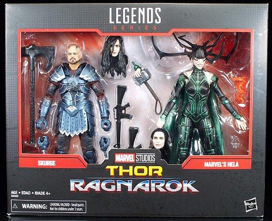 Hela e Skurge o Executor Thor Ragnarok Marvel Legends Hasbro Original