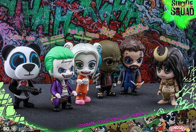 Esquadrão Suicida Series 2 DC Comics Cosbaby Collectible Set Hot Toys Original