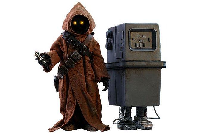Jawa & EG-6 Power Droid Star Wars Episódio IV Uma Nova Esperança Movie Masterpiece Hot Toys Original