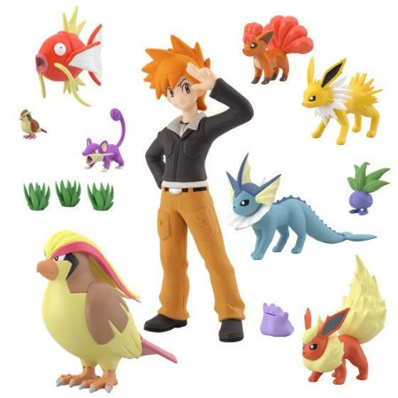 Green e set pokemons Pokemon Scale World Bandai Original