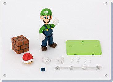 Luigi Super Mario Brothers S.H. Figuarts Bandai Original