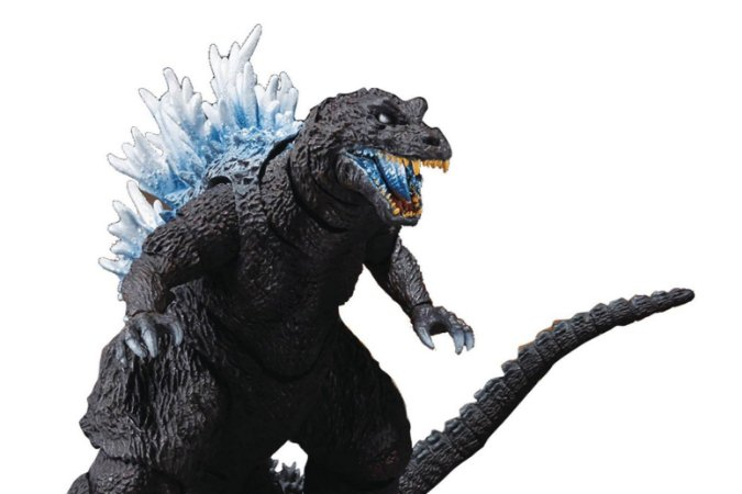 Godzilla Heat Ray 2001 Godzilla Mothra e King Ghidorah Ataque dos Monstros Gigantes S.H. MonsterArts Bandai Original
