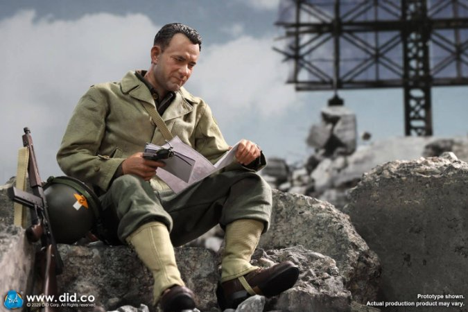 Capitão Miller O resgate do soldado Ryan A80145 WWII US 2nd Ranger Battalion Series 3 DID Corp Original