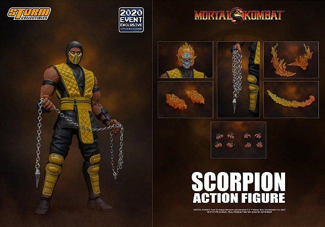 [Exclusivo] Scorpion Mortal kombat Storm Collectibles Original