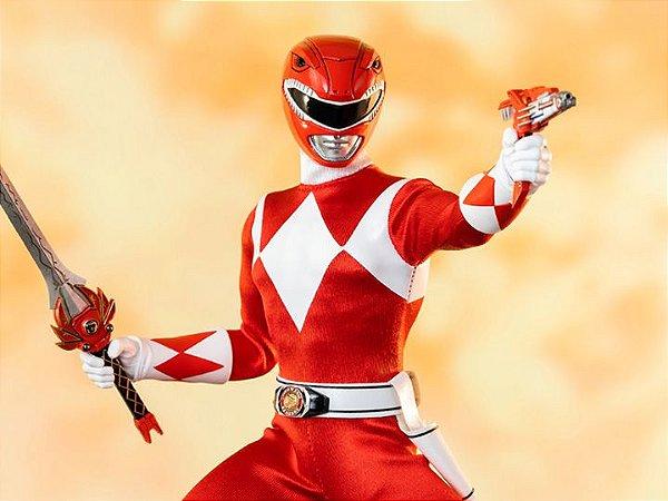 Ranger Vermelho Power Rangers Mighty Morphin Threezero original
