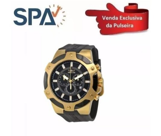 c4794e6d15e Pulseira Do Relógio Invicta 7343 Preta - Borracha - SPA Relojoaria