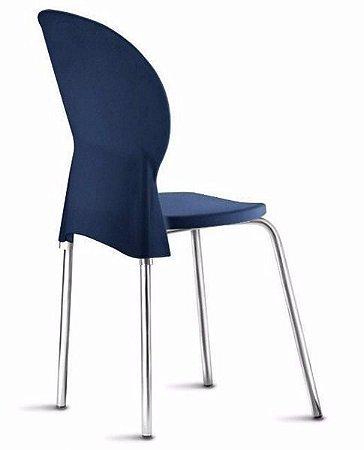 DUPLICADO - Cadeira Empilhável Bit Assento Encosto Injetado Estrutura em Aço