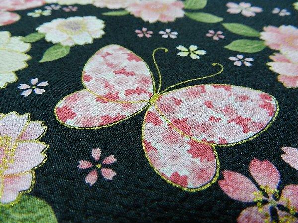 Butterfly. Tec. Douradinho Japonês. JD022 (50x55cm)