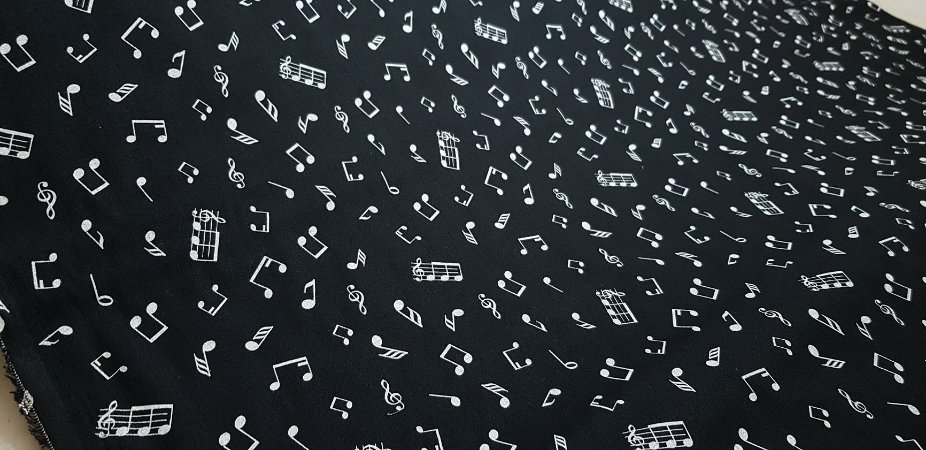 Partitura Musicail. Tecido 100% Algodão. NT0045 ()50x140cm)