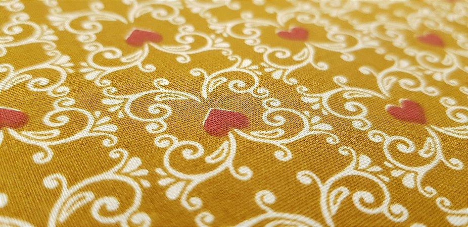 Floral Coração. Tecido 100% algodão. NF0039A (50x140cm)