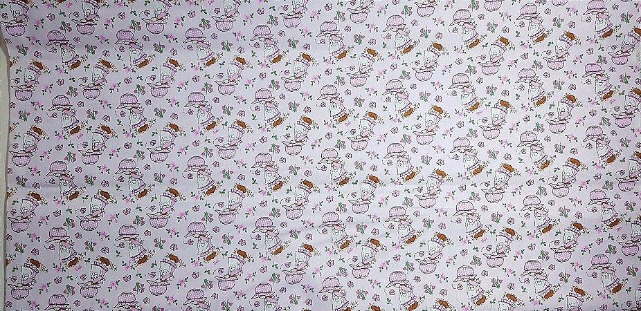 Menina Borboleta. Tecido 100% algodão. NT0054 (50x140cm)
