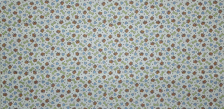 Patinhas e Ossinhos. Tecido 100% algodão. NT0047  (50x140cm)
