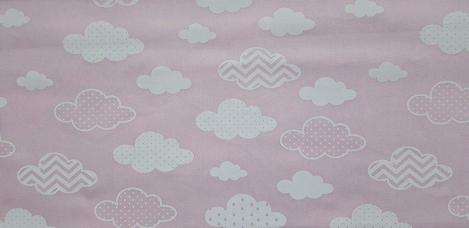 Nuvem Pink. Tecido 100% algodão. NT0051A (50x70cm)