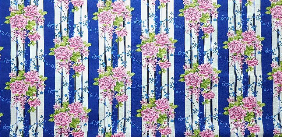Floral 180687. Tecido 100% algodão. NF0046 (50x140cm)