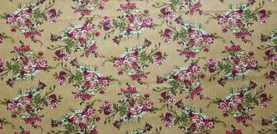 Floral 180641. Tecido 100% algodão. NF0045 (50x70cm)