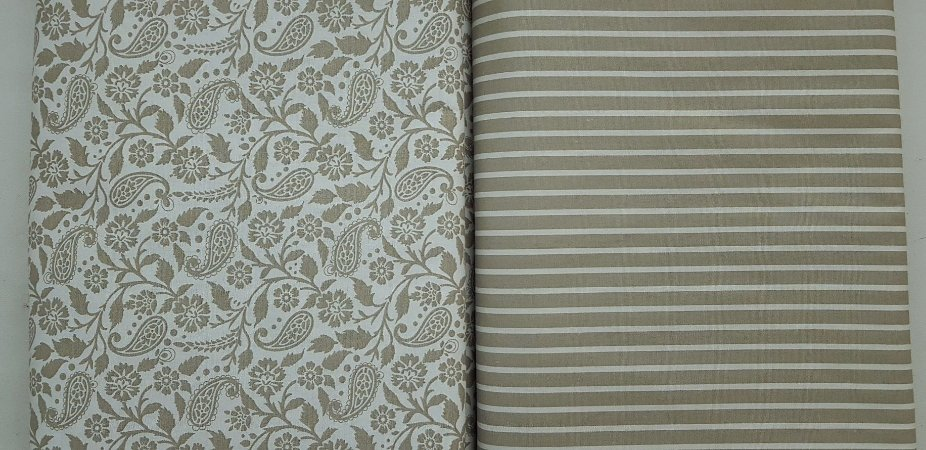 Ramalhete Bege. Composê. Tecido 100% algodão. NF0047NN0053. 2x(50x70cm)
