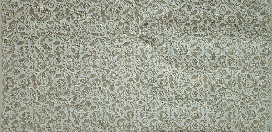 Ramalhete Bege. Tecido 100% algodão. NF0047  (50x140cm)