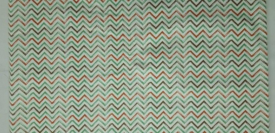 Chevron Dinos Terra. Tecido 100% algodão. NN0055 (50x140cm)