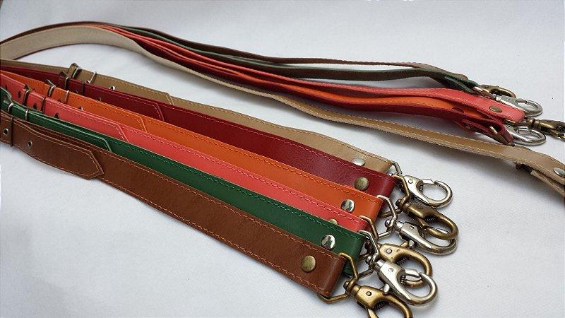 Alça Transversal 2cm com Fivela e Mosquetão - cores disponíveis na 2ª foto