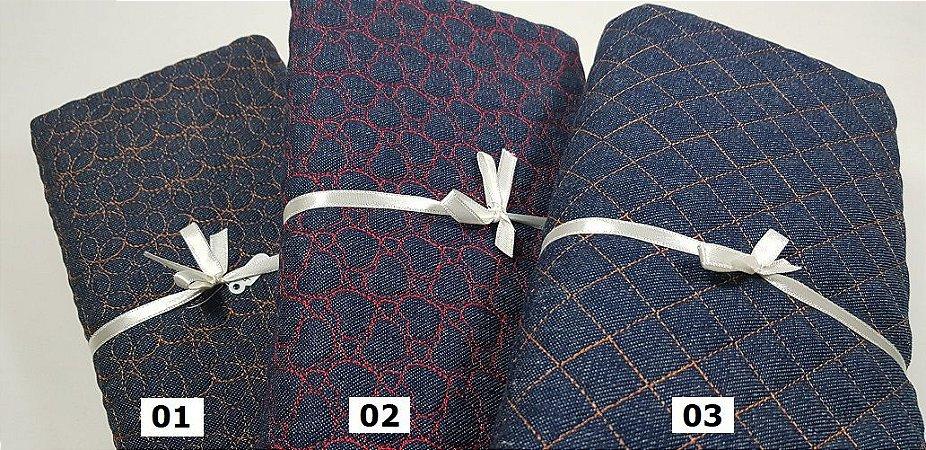 Jeans Matelassados em 50cm x 140cm