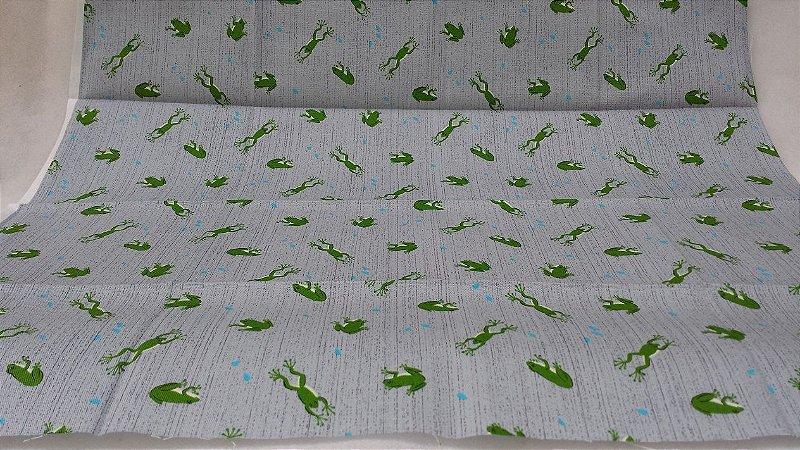 Sapinhos Verdes em tamanho de Fat Quarter (50x55cm)