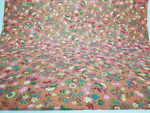 Flowers-06. Tecido Japonês 100% Algodão (50x55cm)