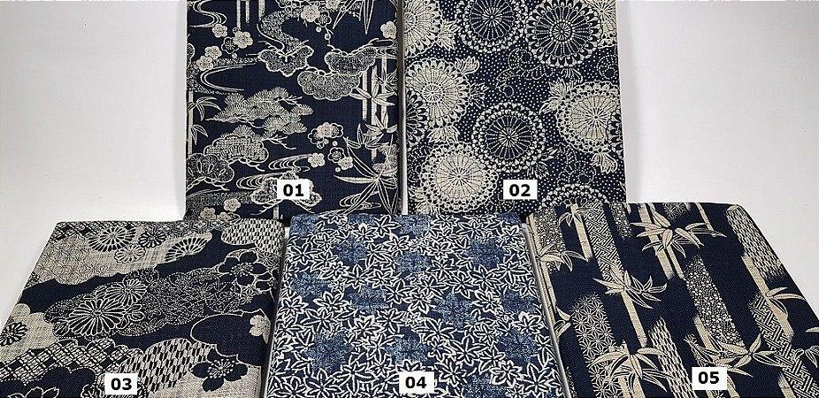 Japonês Tradicional 100% Algodão Encorpado (49cm x 108cm)