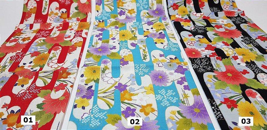 Windows Flower. Tecido Japonês 100% Algodão (50x55cm)