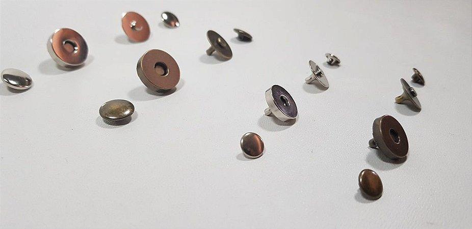 Botão Magnético com Duplo Rebite (saquinhos com 05 botões)