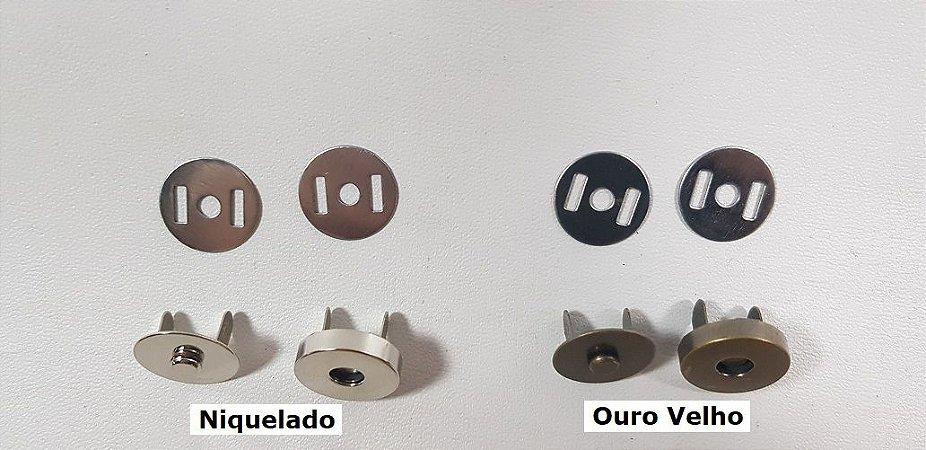 Botão Magnético Alto. 18mm x 5mm - 05 botões/saq.