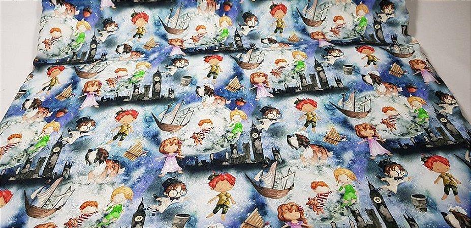 Peter Pan. Tecido Digital.  50x70cm