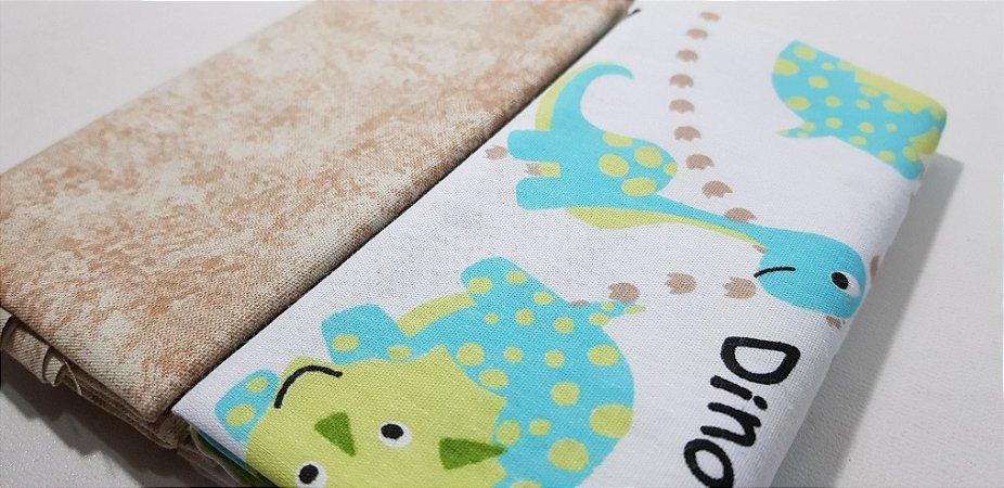 Dino. Composê em Algodão - 2x (50X70cm)