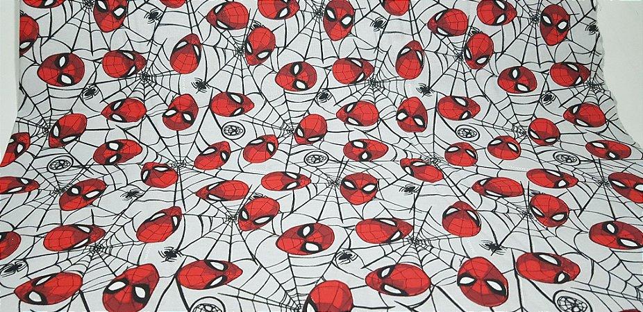 SpiderMan. Tricoline 100% Algodão - 50X70cm