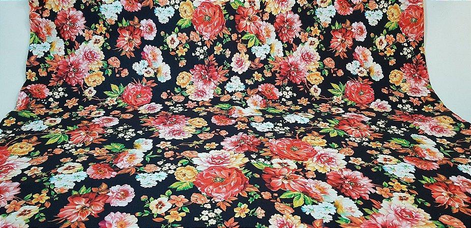 Floral. Tecido Digital. TD016 - 50cm x 140cm