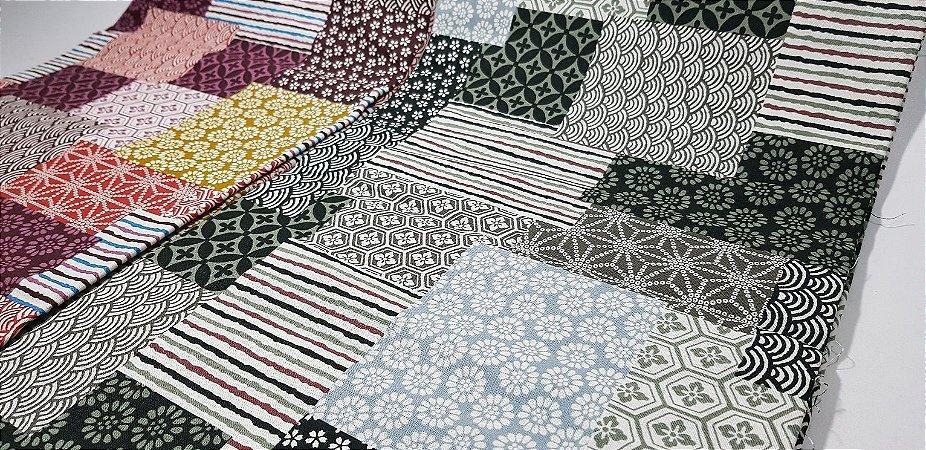 Squares. Tecido Japonês. TI028 (50x55cm)