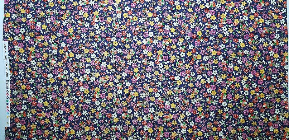 Little Flowers. Tec.JaponêsDouradinho. TI041  (50cm x 55cm)