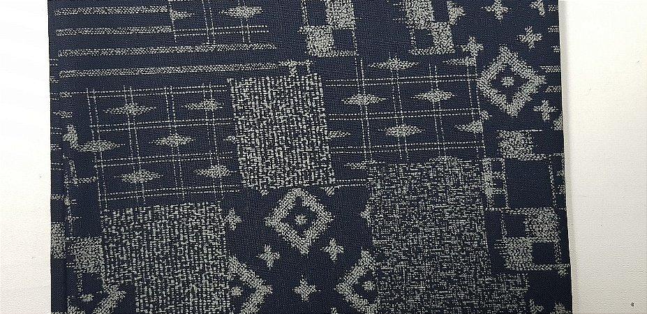 Navy Cotton. Tec.Tradicional Japonês.TI043 (50x55cm)