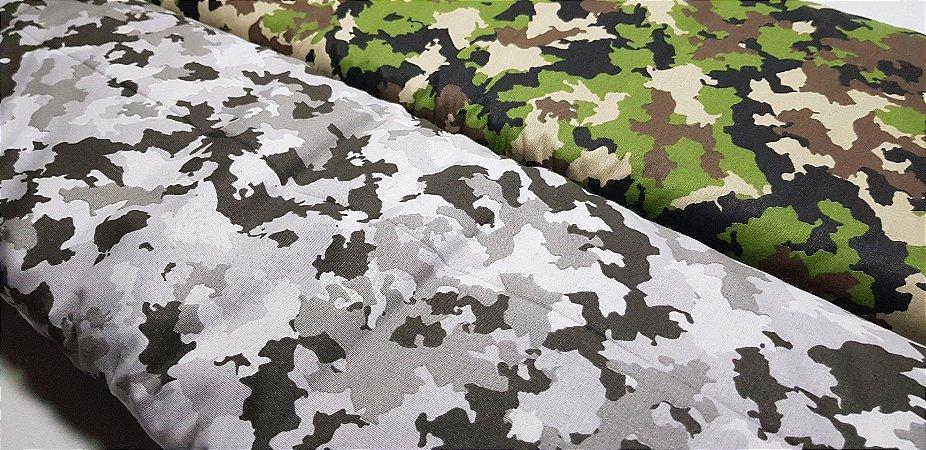 Tecido Camuflado. 100% Algodão. TN084. 50cm x70cm