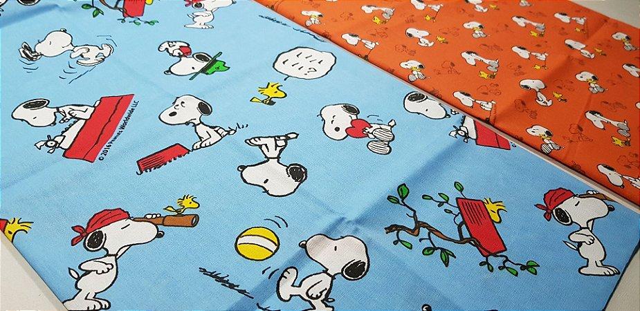 Snoopy & Cia. Tricoline 100% Algodão. TN087-50X70cm