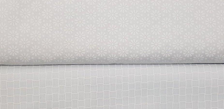 Tecido Estampado Branco. TN106. 50cm x 140cm