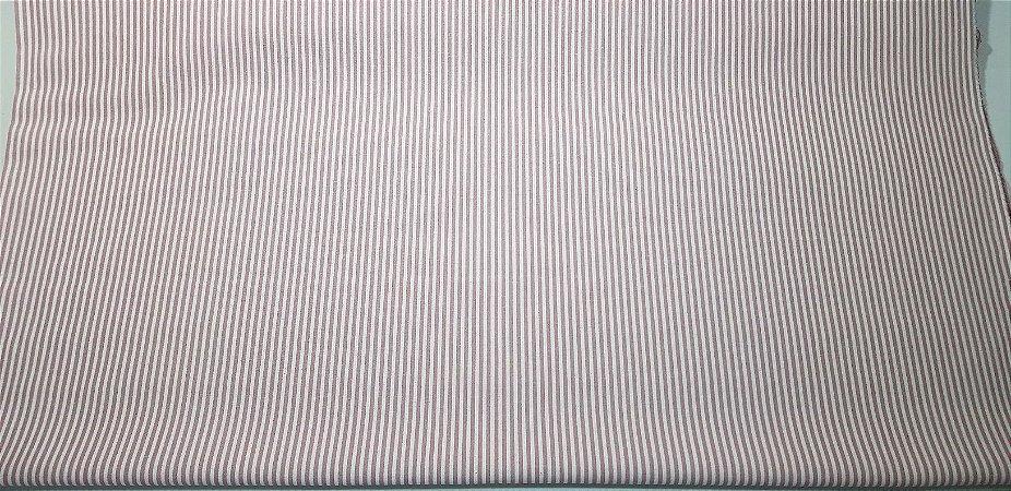 Listrado em Algodão+Linho Nacional. 50x140cm
